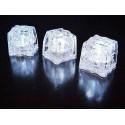 12 Glacons blanc lumineux à LED