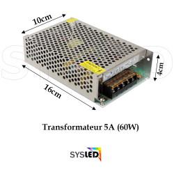 Transformateur Metal 12 V 5 sans cable