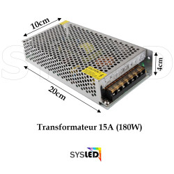 LE152 Transformateur Metal 12 V 15A sans cable