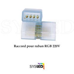 Lot de 5 connecteurs male male pour ruban RGB 220V