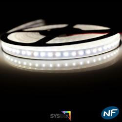 Nouveau Kit Ruban 3014/120 LED/ Mètre Professionnel 5 Mètres Blanc Chaud Étanche.