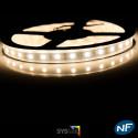 Ruban LED Professionel 5050 / 60 LED mètre blanc chaud étanche