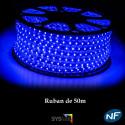 Ruban LED 50 mètres bleu
