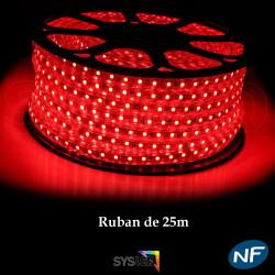 Ruban LED 50 mètres rouge