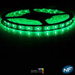 Ruban LED Professionnel 3528 / 60 LED mètre vert electrique pour intérieur (IP65) 1 ,2,5 ,5,10 mètres aux choix
