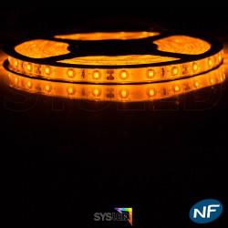 Ruban LED Professionnel 3528 / 60 LED mètre or pour intérieur (IP65) 1 ,2,5 ,5,10 mètres aux choix