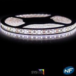 Nouveau Kit Ruban 3528 120 LED/ Mètre Professionnel 5 Mètres Blanc Vif pour intérieur (IP65)