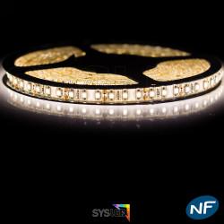 Nouveau Kit Ruban 3528/120 LED/ Mètre Professionnel 5 Mètres Blanc chaud Étanche pour intérieur (IP65)