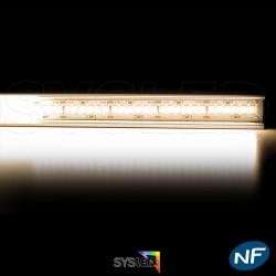 NOUVEAU Kit Ruban LED 3014/244 blanc chaud 30w mètre profilé aluminium
