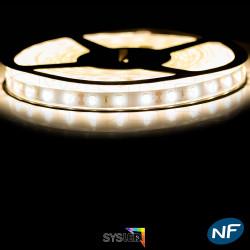 Ruban Led 5630 étanche 5 mètres 60 LED mètre Blanc Chaud