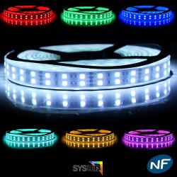 Nouveau Kit Ruban 120 LED/ Mètre 5050 IP68 Professionnel 5 Mètres RGB Étanche avec Télécommande