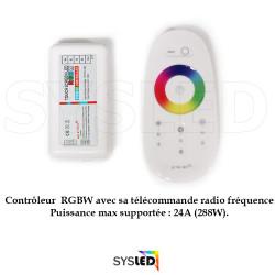 Contrôleur/télécommande radio pour ruban LED RGBW