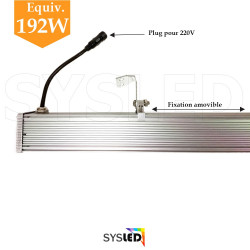 Projecteur linéaire barre LED de 1 mètre