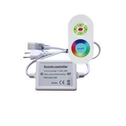 Controleur avec sa télécommande radio pour ruban led RGB 220V