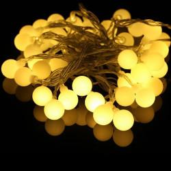 Guilande LED 10 mètres 100 boules blanc chaud ( guinguette )