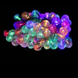 Guirlande LED 10 mètres 100 boules RGB multicouleur effet cristal