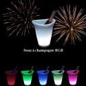 Sceau à Champagne lumineux RGB à LED