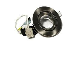 Socle pour LED MR16 (12v) blanc ou métal brossé