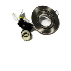 Socle pour LED GU10 blanc ou métal brossé