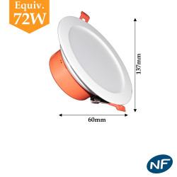 Downlight LED 9w blanc froid ou blanc neutre