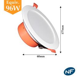 Downlight LED 12w blanc froid ou blanc neutre