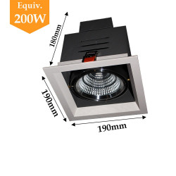 Projecteur 1 X 20W orientable blanc neutre
