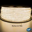 Ruban LED Epistar 3014/120 leds en 25 mètres Blanc Chaud étanche (IP68)