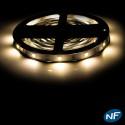 Ruban LED Professionnel 5050 / 30 LED mètre blanc chaud  pour intérieur