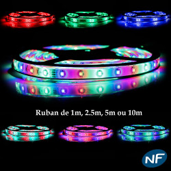Ruban LED 3528 Professionnel RGB Étanche LED