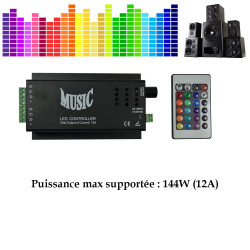 Controleur pour bande LED piloté par le son