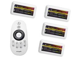 4 controleurs Mono Couleur avec sa Télécommande Radio