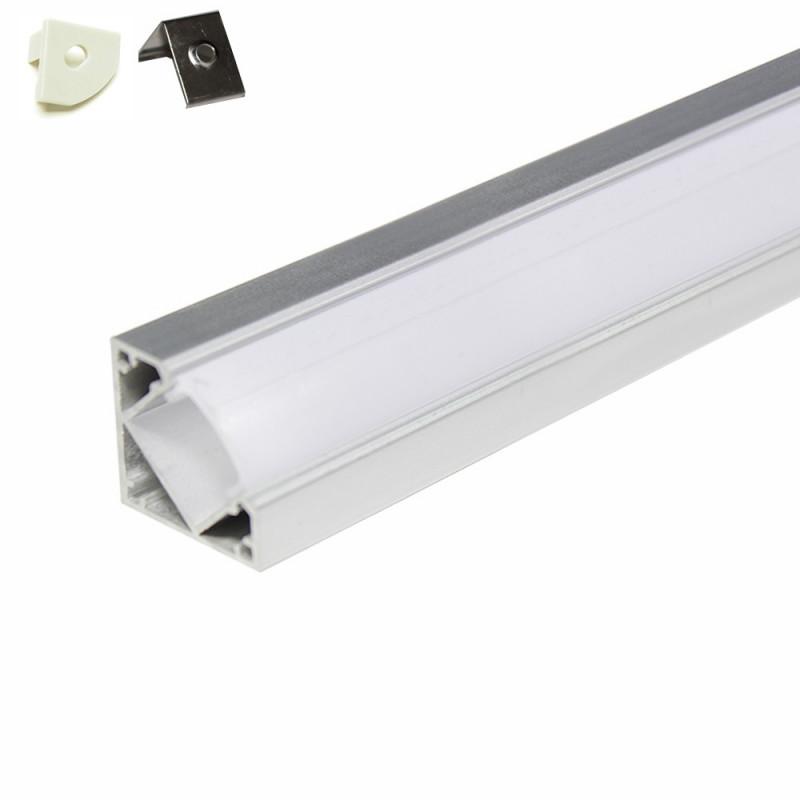 Profilé aluminium pour Angle 5 mètres (5 x 1 mètre)