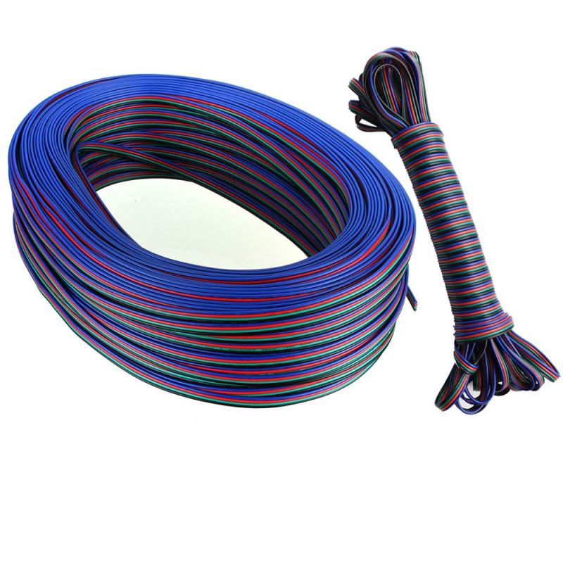 Cable 5 mètres 5050 RGB pour rallonge