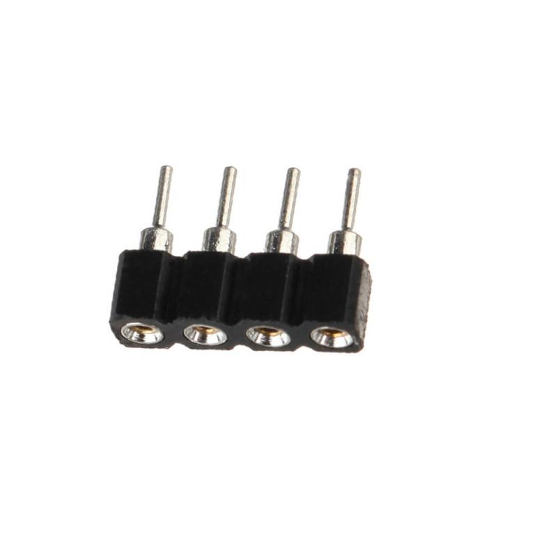 Sachet de 10 pièces connecteur male femelle 4 broches pour 5050 et 3528