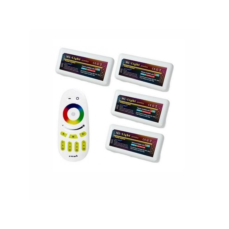 4 controleurs Multi -zone RGB avec sa Télécommande Radio
