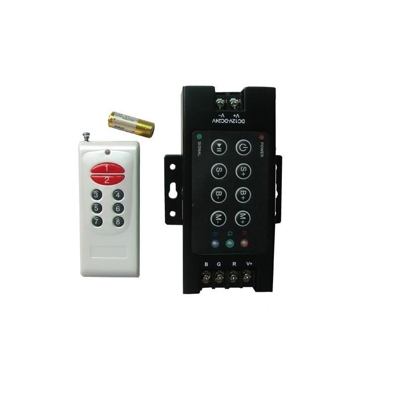 Controleur RGB 12/24V 30 A avec télécommande 12 touches
