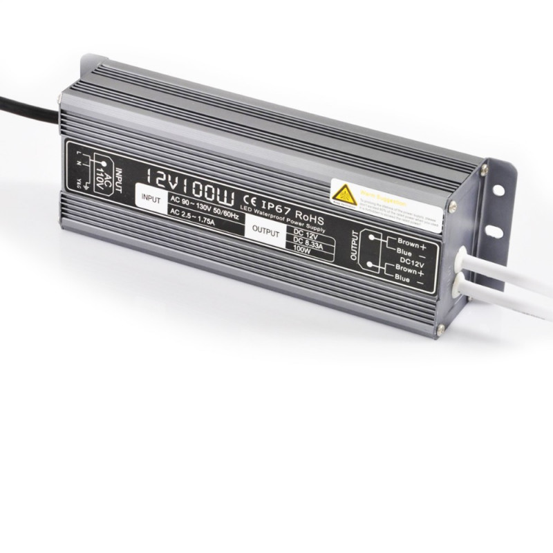 Alimentation étanche 12 V/100 Watt pour ruban LED