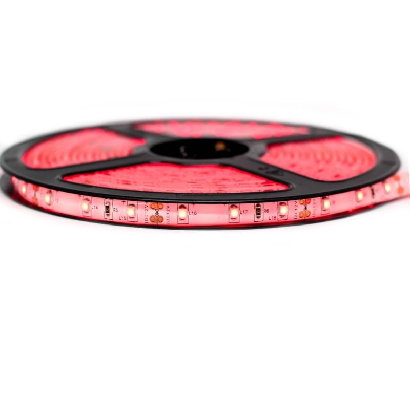 Ruban LED Professionnel 3528 / 60 LED mètre rouge pour intérieur (IP65) 1 ,2,5 ,5,10 mètres aux choix