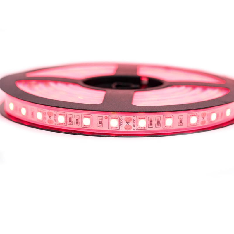 Ruban LED Professionel 5050 / 60 LED mètre rouge étanche