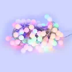 Guilande LED 10 mètres 100 boules RGB multicouleur ( guinguette )