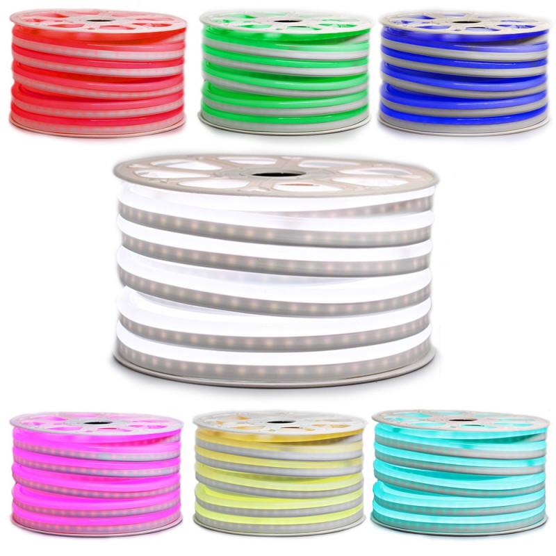 """Ruban LED """"néon flexible"""" Professionnel EPISTAR 2835 120 LED/m de 50 mètres bleu étanche (IP68)"""