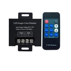 Variateur 20A RF avec télécommande pour ruban LED mono couleur