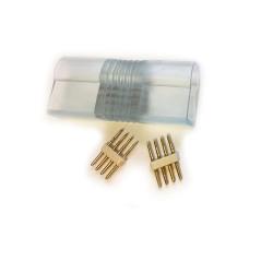 Lot de 5 connecteurs mâle/mâle pour ruban LED néon flexible RGB 220V
