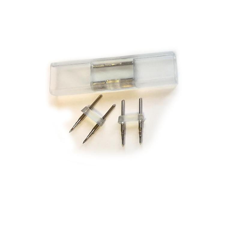 Lot de 5 connecteurs male male 8mm pour ruban LED néon flexible  220V