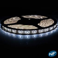 Ruban LED Professionnel 3528 / 60 LED mètre blanc vif pour intérieur (IP65) 1 ,2,5 ,5,10 mètres aux choix