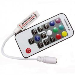 Telecommande avec mini controleur extra plat pour RGB 5050 ou 3528 RGB