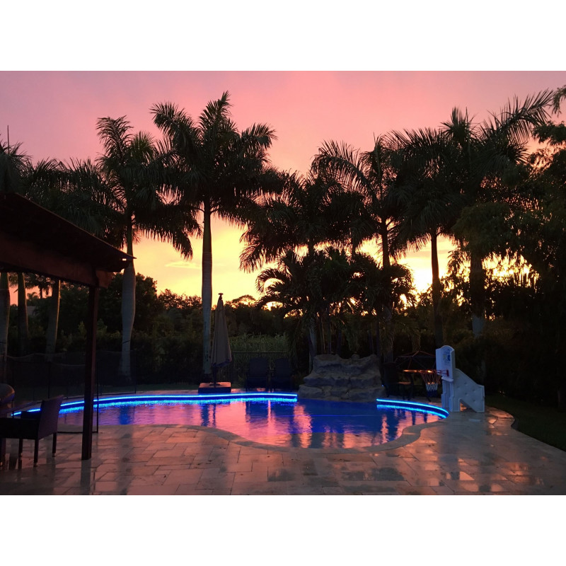 Ruban LED 24V RGB pour piscine ou bassin en 25 Mètres
