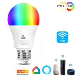 Ampoule LED 10W SMART Wifi RGB+ Blanc CCT - A60 Dimmable - E27