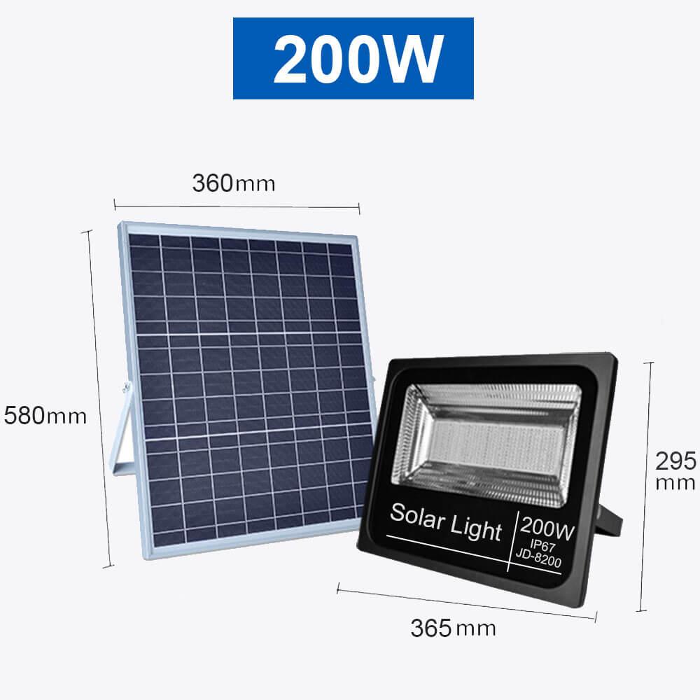 Projecteur solaire 200W